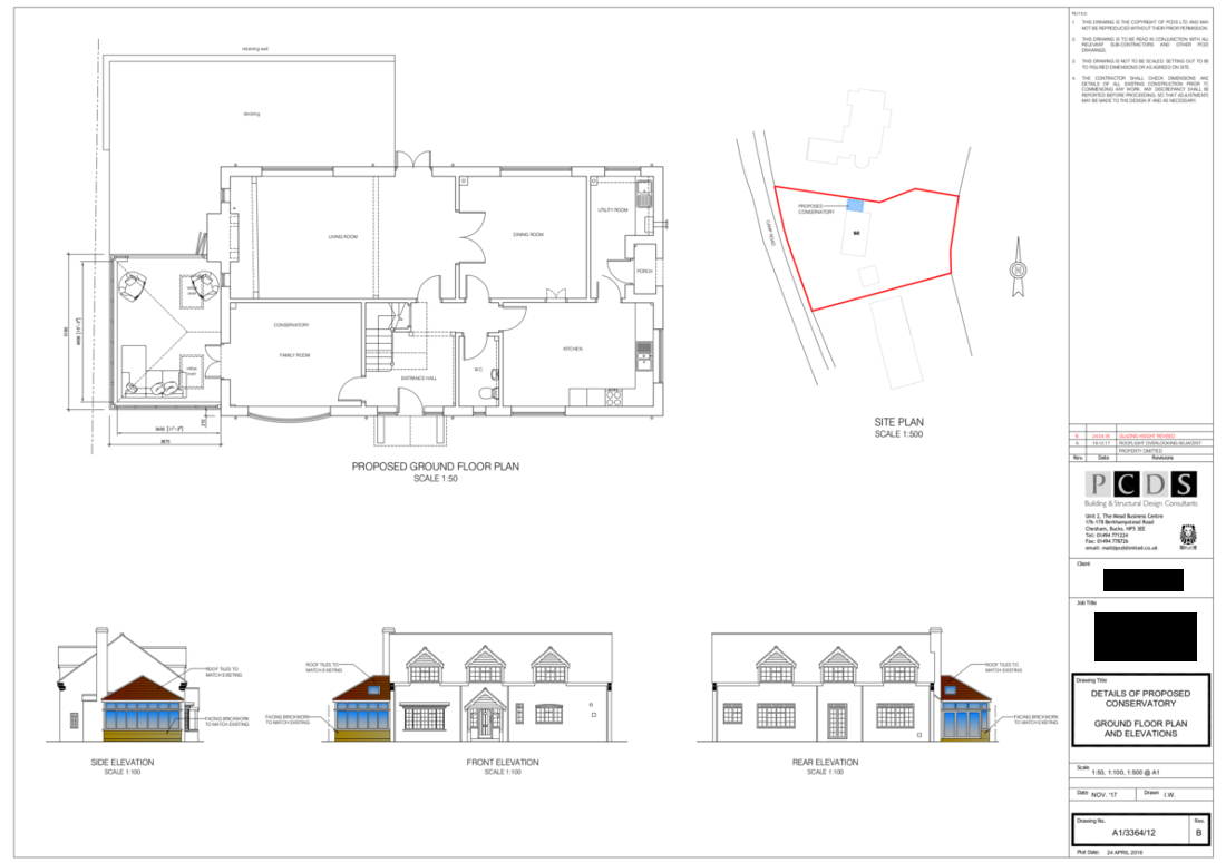 Camp Road Refurbishment proposed plan drawing submitted to the planning department