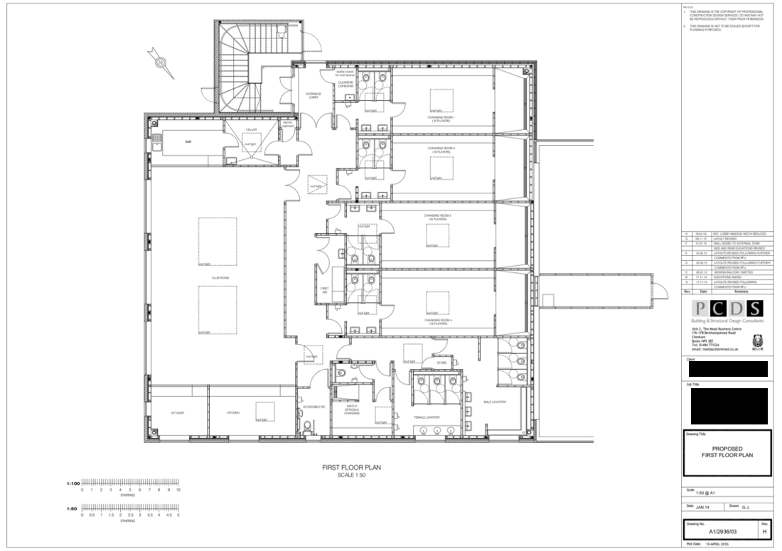 Proposed plans showing proposed floor plan